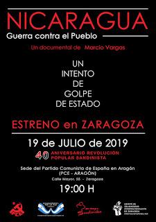 Zaragoza. Conmemoración 40 Aniversario de la Revolución Popular Sandinista