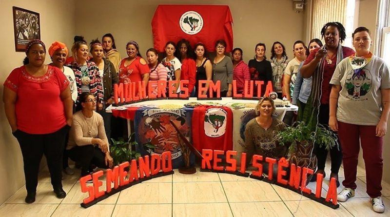 Brigada internacional de mujeres al I Encuentro Nacional de Mujeres Sin Tierra.