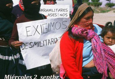 Alto a la violencia contra las comunidades zapatistas