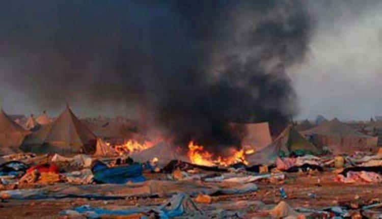 Imagen del campamento de Gdeim Izik desmantelado por Marruecos. / Efe