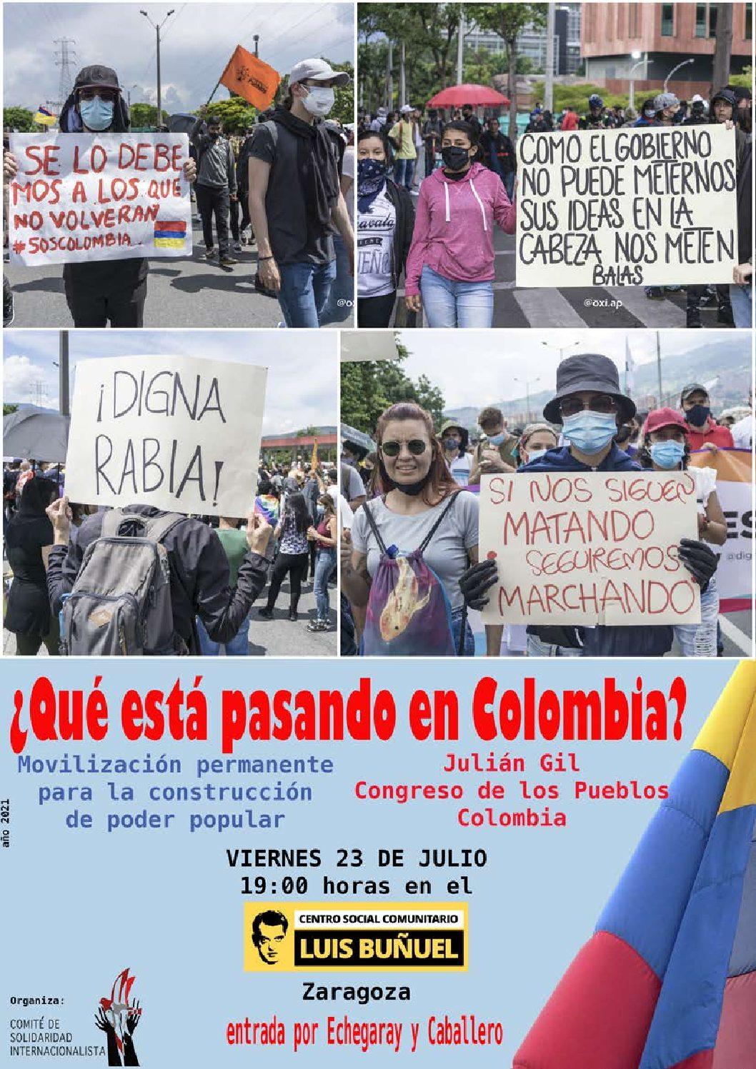 Qué está pasando en Colombia: Movilización permanente para la construcción de poder popular.
